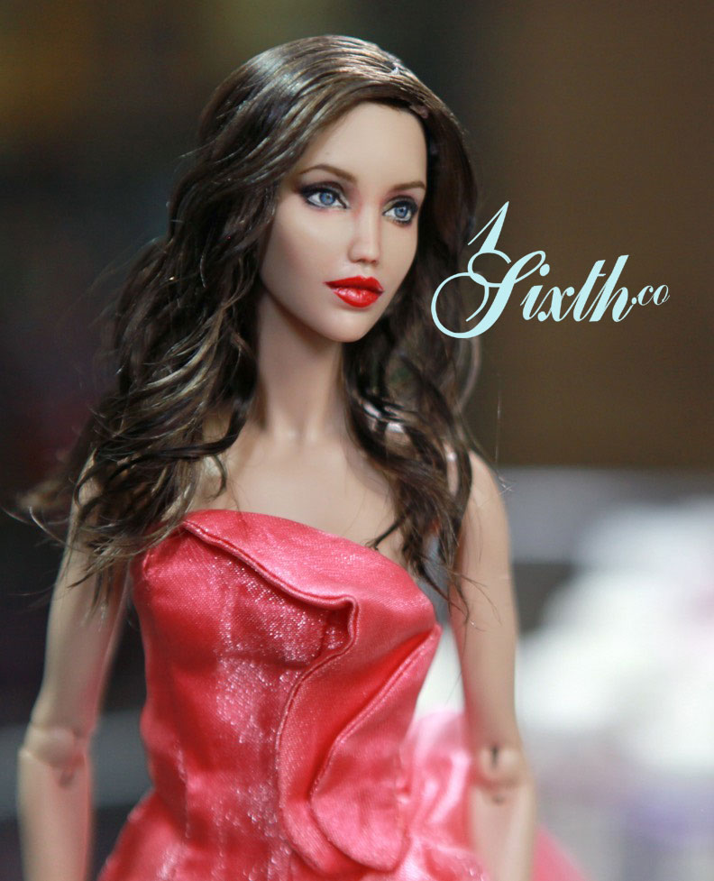 Angelina Jolie a Repainted/Restyled DominionDoll.com Figure by Artist Noel Cruz
