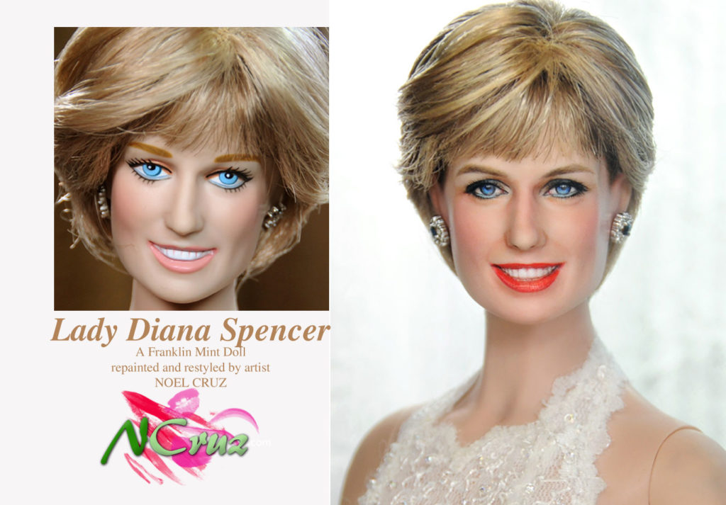 Lady Diana. This Franklin Mint was sculpted to resemble Diana.