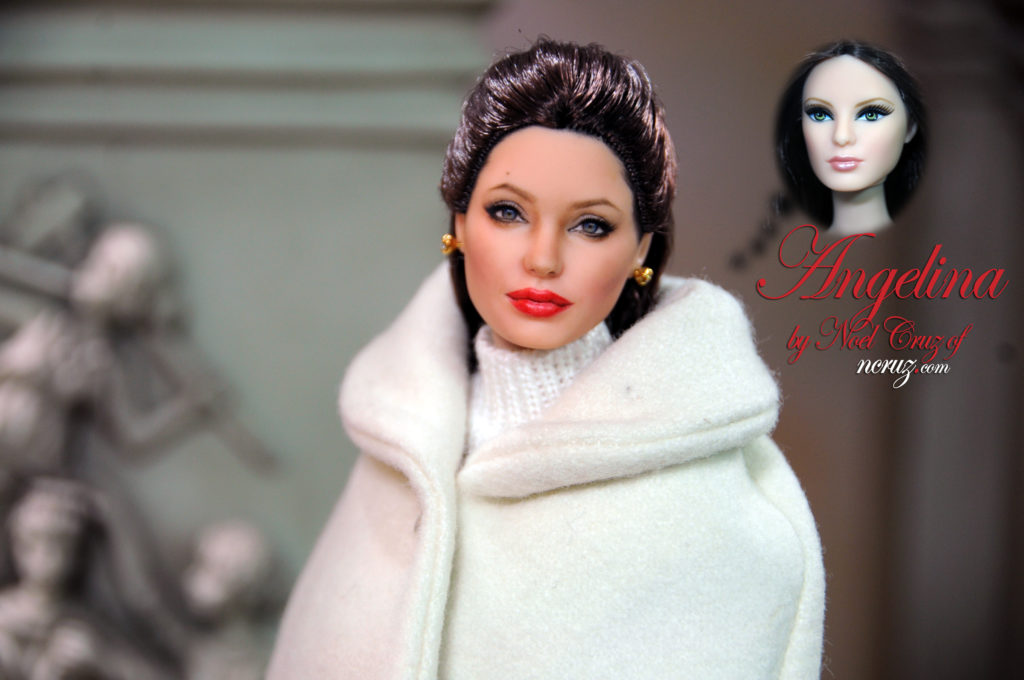 Angelina Jolie (basic Barbie) by Noel Cruz